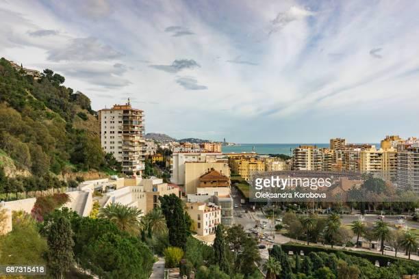 Panorama of the city of Malaga, Spain.