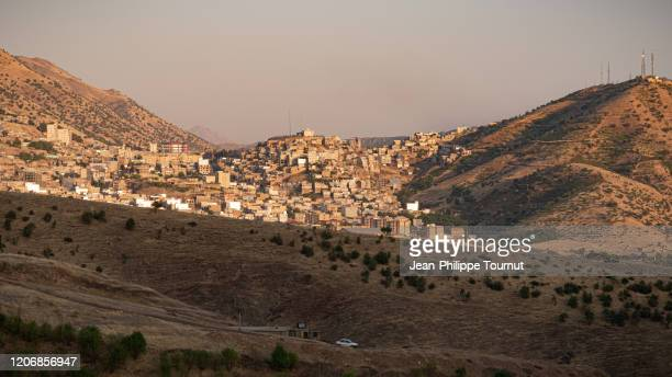 panorama of the city of paveh, kurdistan province, western iran - クルディスタン ストックフォトと画像
