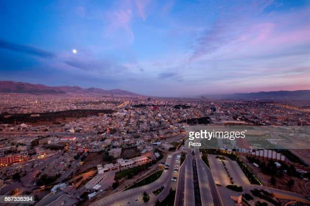 Panorama of the city of Sulaymaniyah founded in 1784 by the Kurdish prince Ibrahim Pasha Baban which is one of the four major cities of Iraqi...