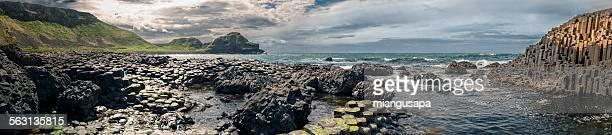 Panorama of the Giant's Causeway
