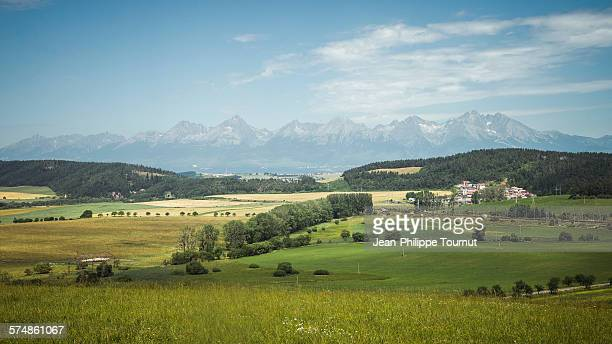 Panorama of the high Tatras mountains