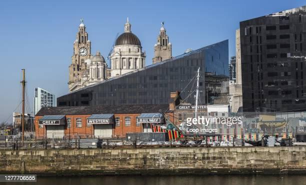 Panorama of the Liverpool skyline.