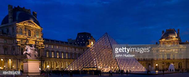 Panorama of The Louvre at dusk