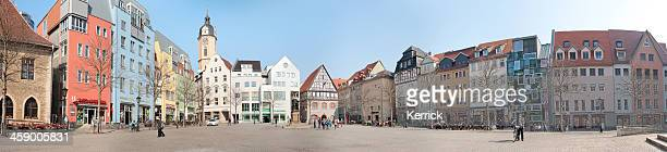 panorama of the market place in jena /germany - thuringia stock pictures, royalty-free photos & images