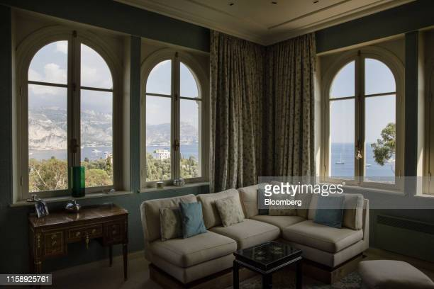 Panorama of the Mediterranean Sea is seen from a bedroom at the Villa Les Cedres a 187yearold000squarefoot 14bedroom mansion set on 35 acres in...