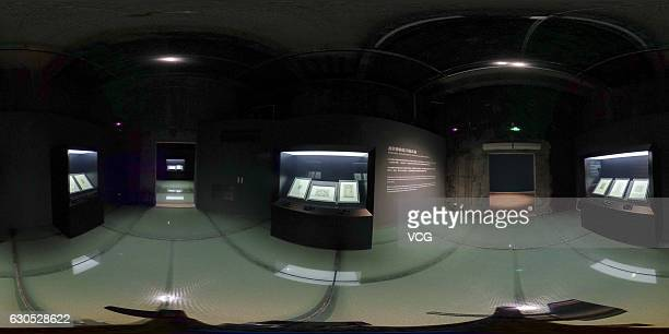 """Panorama of the Michelangelo's manuscripts area of the exhibition """"The Divine Michelangelo"""" at Shanghai Modern Art Museum on December 25, 2016 in..."""