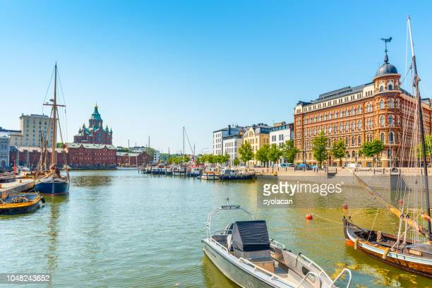 panorama of the old port pier, helsinki - syolacan stock pictures, royalty-free photos & images
