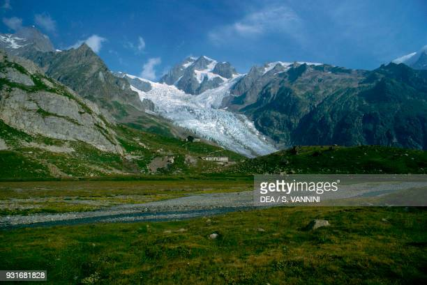 Panorama of the Upper Veny valley Courmayeur Aosta Valley Italy