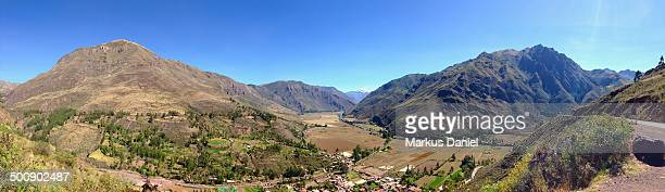 Panorama of the Valle Sagrado of the Incas, Peru