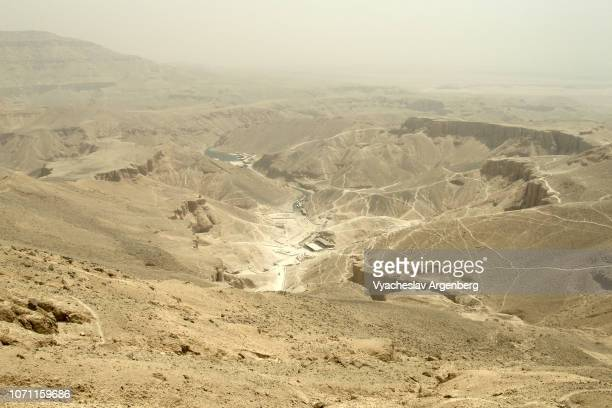 panorama of the valley of the kings, egypt - argenberg stock pictures, royalty-free photos & images