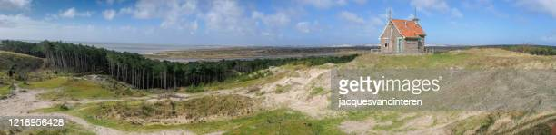 panorama of the western part of the island terschelling in the northern part of the netherlands - north holland stock pictures, royalty-free photos & images