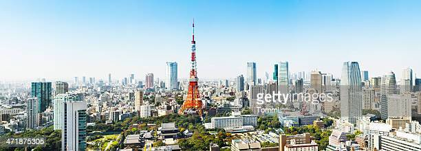 panorama of tokyo, japan - tokyo japan stock pictures, royalty-free photos & images