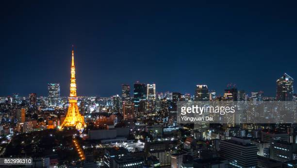 Panorama of Tokyo Skyline at Night