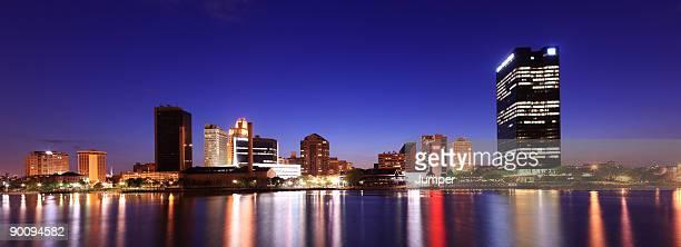panorama of toledo, ohio - toledo ohio stock pictures, royalty-free photos & images