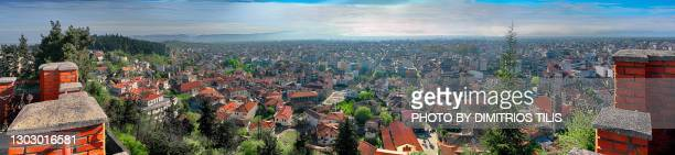 panorama of trikala,thessaly ,greece (hellas) - dimitrios tilis stock pictures, royalty-free photos & images