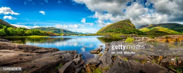 panorama of typical landscape in ireland - ireland stock pictures, royalty-free photos & images
