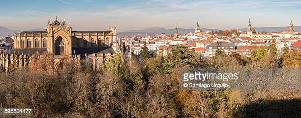 panorama of vitoria-gasteiz - vitoria spain stock pictures, royalty-free photos & images