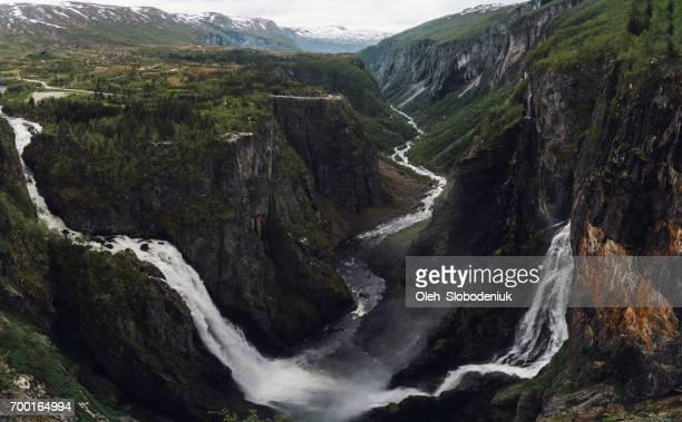 Panorama der Voringfossen Wasserfall in Bergen in Norwegen