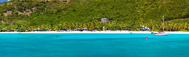 panorama of White Bay, Jost Van Dyke, British Virgin Islands