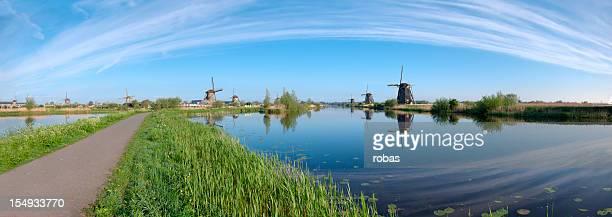 Panorama of windmills Kinderdijk