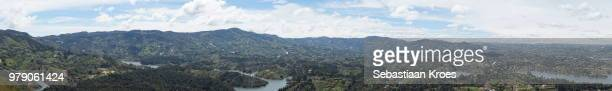 panorama on mountains at guatapé area, nature, lakes and islands, colombia - guatapé stock pictures, royalty-free photos & images