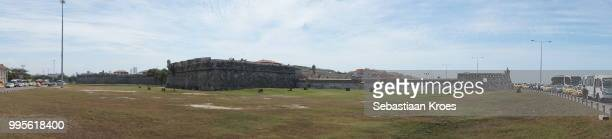 Panorama on the old city walls of Cartagena, Colombia