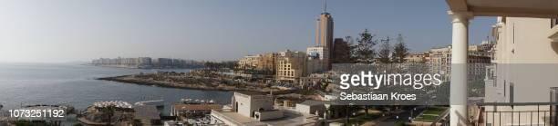 Panorama on Urban Coastline, Portomaso Tower, St Julians, Malta