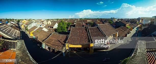 Panorama over Hoi An Old Town Street, Vietnam