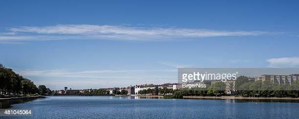 Panorama over Sortedamssøen, Copenhagen, Denmark