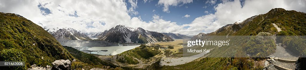 Panorama overview Mt Cook and surrounds : Stock Photo