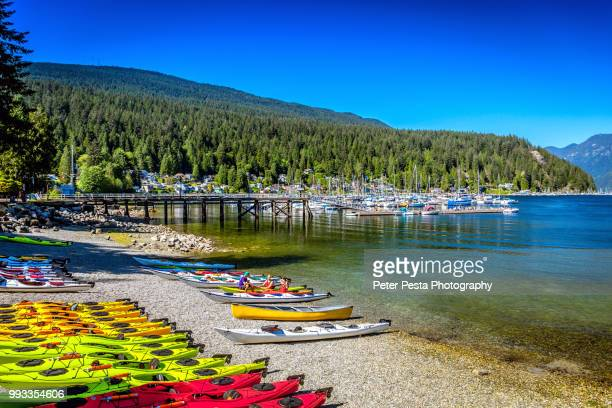 panorama park - deep cove - vancouver canada stock photos and pictures