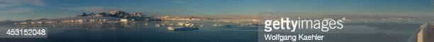 Panorama photo of Hope Bay on the tip of the Antarctic Peninsula from the Antarctic Sound.