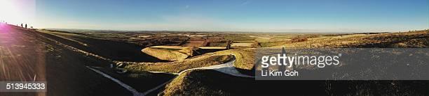 panorama - アフィントンの白馬 ストックフォトと画像