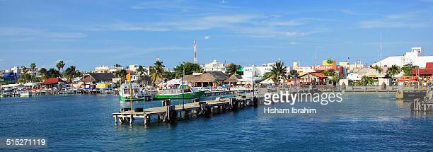 panorama - isla mujeres stock photos and pictures
