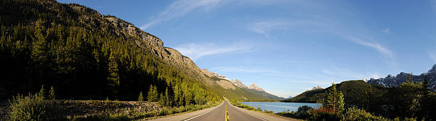 """""""Panorama: Road With Mountains, Forests And Lake"""" Wall Art"""