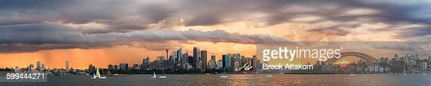 Panorama Scene Sydney Storm on summer time