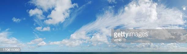 Panorama shot of horizon Over water (XXL)