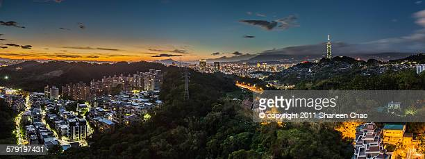 Panorama shot of Taipei
