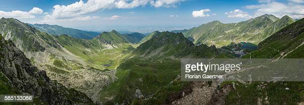 A panorama shot shows the Fagaras Mountain on July 14 2016 in Fagaras Romania