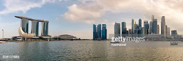 Panorama Singapore City, Marina and City Skyline
