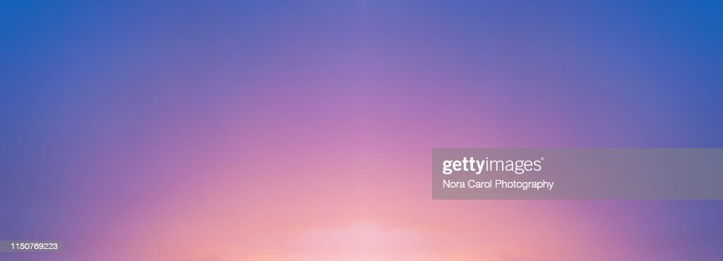 Panorama Sunset Background : Stock Photo