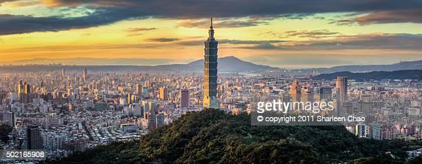Panorama Sunset of Taipei 101
