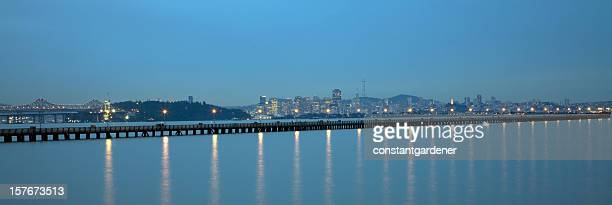 Panorama Twilight Of San Francisco From East Bay