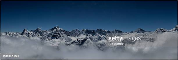 Panorama view from mount Schilthorn