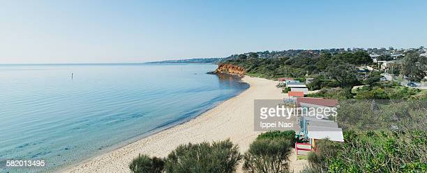 Panorama view of beach, Mornington Peninsula