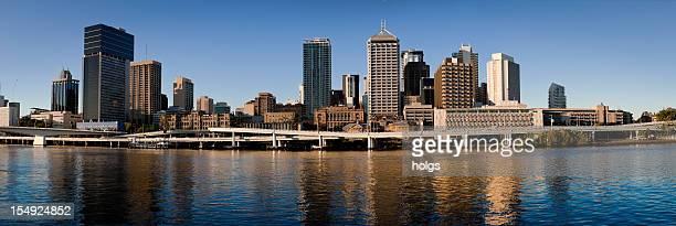 Panorama view of Brisbane City Skyline