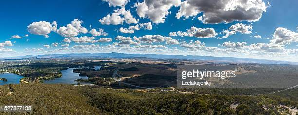 Panorama view of Canberra, Australia