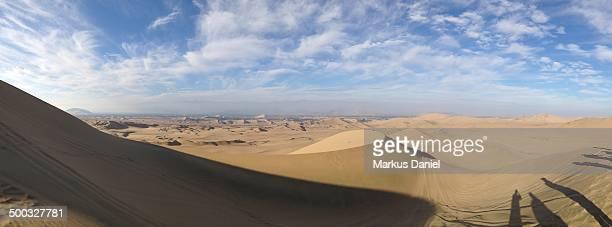 Panorama view of Desert Dunes near Ica