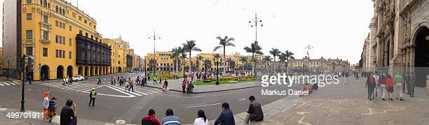 CONTENT] Panorama view of Plaza de Armas in Lima Peru This place also has the Lima Cathedral many historical buildings and is visited by tourists and...