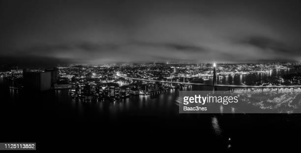panorama view of stavanger city (norway) - ローガラン県 ストックフォトと画像